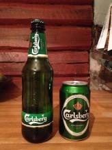 Carlsberg på flaske og Carlsberg på boks