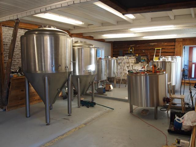Bryggeriet under oppbygging