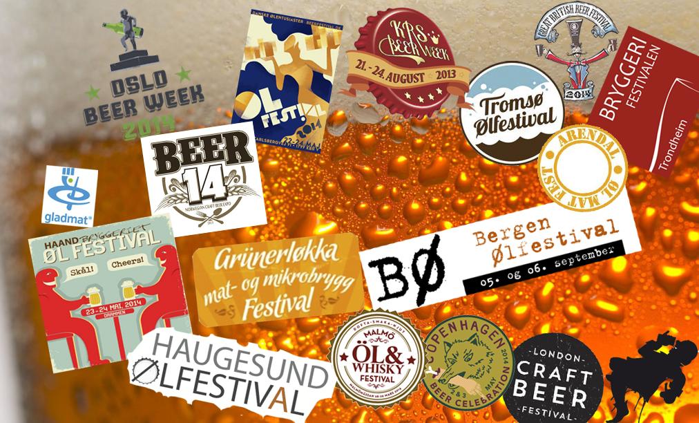 Oversikt over ølfestivaler 2014