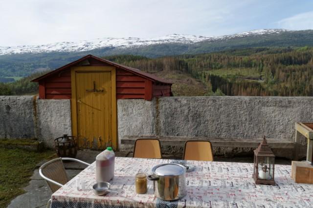 Kveik og utsikt på Voss