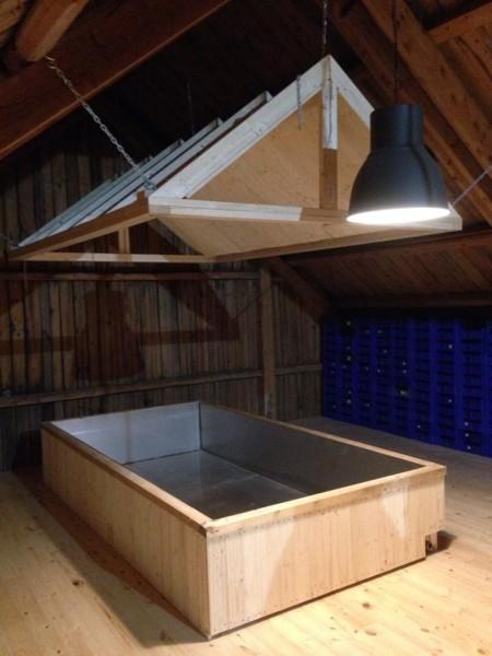 Coolship på loftet på Lindheim 2