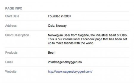 Sagene slik de fremstår på Facebook. Sagene Bryggeri AS ble registrert 01.09.2013.  Hvordan de sporer bedriften tilbake til 2007 er temmelig uklart.