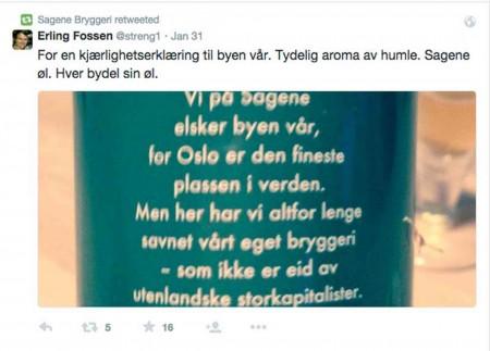 Erling Fossen er så gladi Oslo at han ser ut til å inkludere Arendal i sin kjærlighet.
