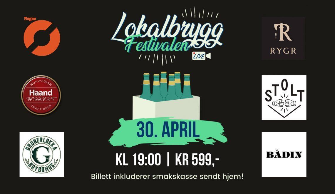 Norsk ølfestival på nett den 30. april